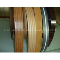 China Wood grain furniture edge banding,PVC,ABS,double color,color & size can be customized. on sale