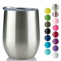 Quality 220ml Stainless Steel Stemless Wine Tumblers wholesale