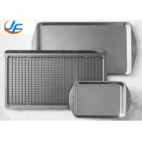 China OEM Aluminium Baking Tray , All Clad D3 Stainless Steel Jelly Roll Pan For Industry on sale