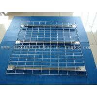 Quality Flared Steel Wire Mesh Decks Industrial Pallet Racks Heavy Duty Capacity 2000 LBS wholesale