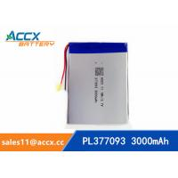 Quality 377093pl 377090pl 357090pl rechargeable 377093 357090 3.7v 3000mah lithium polymer battery for mobile phone, tablet PC wholesale