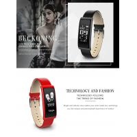 Quality Luxury leather strap smart wristband C9 assistive touch screen heartrate pedometer bracelets wholesale