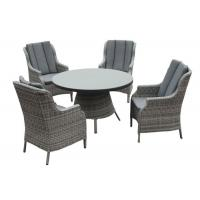 Quality Lightweight 4 Seater Aluminum Rattan Outdoor Patio Dining Sets wholesale