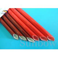 Quality Brown Color 12mm Electrical Wire Fiberglass Insulation Sleeving wholesale