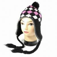 Quality 75G Acrylic Knitted Women Hat, Available in Many Designs wholesale