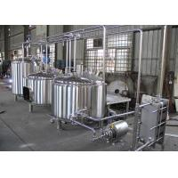 Quality Semi-Automatic Craft Beer Brewing Equipment Mirror Polish Inner Surface wholesale