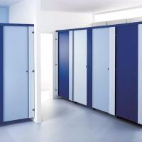China White Color Compact Laminate Material Shower Cubicle for Gym on sale