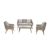 Quality L Shaped 780mm Height 630mm Breadth Rattan Garden Furniture Sets wholesale