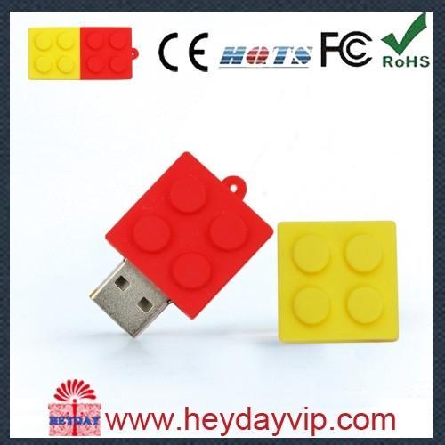 Cheap PVC USB drive orange USB flash pen drive for sale