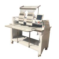Quality Commercial Double Head Computer Embroidery Machine , Electronic Embroidery Machine wholesale