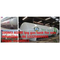 China factory direct sale best price ASME 100m3 propane gas storage tank, ASME surface cooking gas storage tank 100m3 for sale on sale