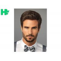 Quality Bright Silky Straight Men Hair Wig With Normal Lace Cap Construction wholesale