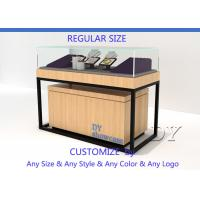 Cheap Luxury Veneer Stain Steel Jewellery Shop Counter With Large Storage for sale
