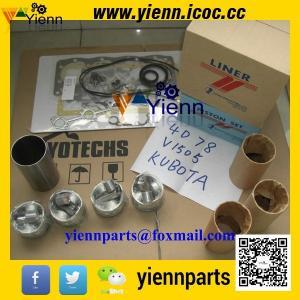 Quality Kubota V1505 piston +ring+liner+full gasket kit with head gasket for KH71 KX71H KX91 excavator engine overhual rebuild wholesale