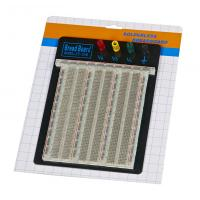 Quality DIY 2390 Points Transparent Breadboard With Blue / Red Contacts wholesale