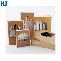 Quality Brown Tableware Cardboard Packing Boxes Customized Folding With Big Window Hanger wholesale