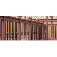 Quality Brown Wood Plastic Composite Deck Railing With No Toxic Chemicals / Preservatives wholesale