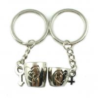 Quality Custom Design Promotional Metal Keyrings For Couple Gifts Low Minimum wholesale