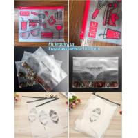 Quality vinyl plastic zipper bags packaging with slider closure, size frosted matte pvc vinyl zipper ziplock plastic packaging b wholesale