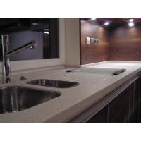 China Modern Design Pure Acrylic Solid Surface Red Bathroom Cabinets on sale