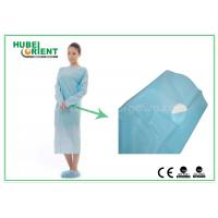Quality Plastic Disposable Protective Gowns / Blue CPE Surgical Gown for Patient , CE Standard wholesale