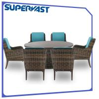 Budget Patio Dining Set: Cheap Outdoor Living Luxury Garden Resin Wicker Patio