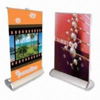 Quality Table Roll Up Banner Stands, Made of Aluminum Alloy, Available in Various Colors wholesale