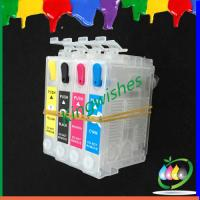 Quality 4 color refillable cartridge for Epson XP-200 with reset chip wholesale