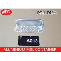 China A013 Aluminum Foil Container Rectangle Shape Grill Pan 20.5cm x 11cm x 5.5cm 680ml volume For  Foods Packaging on sale