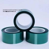 China Green PET Die Cut Masking Tape  Lithium Battery Terminal Insulation Protection on sale