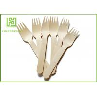 Quality Wooden Biodegradable Disposable Cutlery Forks For Picnic Take out Food wholesale