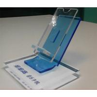 Quality Clear Acrylic Mobile phone Display Holders with silk screen printing wholesale