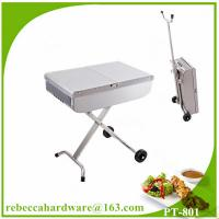 Quality High quality european stainless steel trolley barbecue grill / charcoal grill wholesale