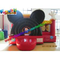 Quality Mickey Mouse Inflatable Bounce Houses , Small Jumping Castle With Repair Kit wholesale