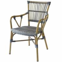 Quality Anti Moth Aluminum Bistro Waterproof Wicker Rattan Dining Chairs wholesale