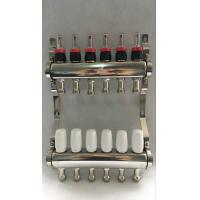 Quality White Color Control Floor Heating Manifold Italy Style Flow Meter wholesale