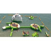 China 0.9mm PVC Inflatable Water Boucer, Trampoline With Slide, inflatable Trampoline on sale