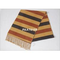 China 120G Women Stripes Woven Silk Scarf With Georgette Or Twill on sale