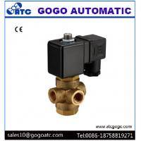 Quality Brass Normally Open 3 Way Water Solenoid Valve With Direct Drive Type G1/4 Port wholesale