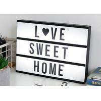 China USB 5V LED Alphabet Light Box , A4 Marquee Light Box With Changeable Letters on sale