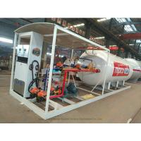 Cheap Skid Mounted LPG Gas Tank For Mobile LPG Filling Stations With  Digital Scales for sale