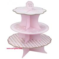Quality Fashion Colorful Design 3 Tier Paper Cardboard Cupcake Stand,Wholesale Wedding Cake Stand wholesale
