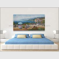 Quality Acrylic Classic Mediterranean Scenes Oil Painting Colorful Oceanside wholesale