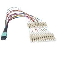 Quality 24 Core MPO Male -Lc Upc Cable , 0.9mm Optical Breakout Cable Fast To Upgrade wholesale