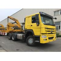 Quality Yellow 40ft Truck Mounted Crane 3 Axle Self Loading Container Truck Trailer wholesale