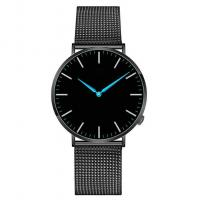Quality Ultra Thin Stainless Steel Back Quartz Watch , Black Color Quartz Dress Watch wholesale