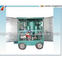 China Good quality waste transformer oil purification machinery with car wheels,dehydration and degasification on sale