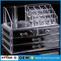 Quality PS or Acryic Lipsticker holder, Acrylic makeup organizer with four drawer wholesale