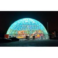Quality 20M  PVC Geodesic Dome Strong Structure Steel Steel Tent Transparent For Outdoor Event wholesale