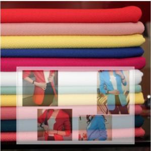 Quality Haute couture coat color jacquard knit fabrics bubble cloth wholesale